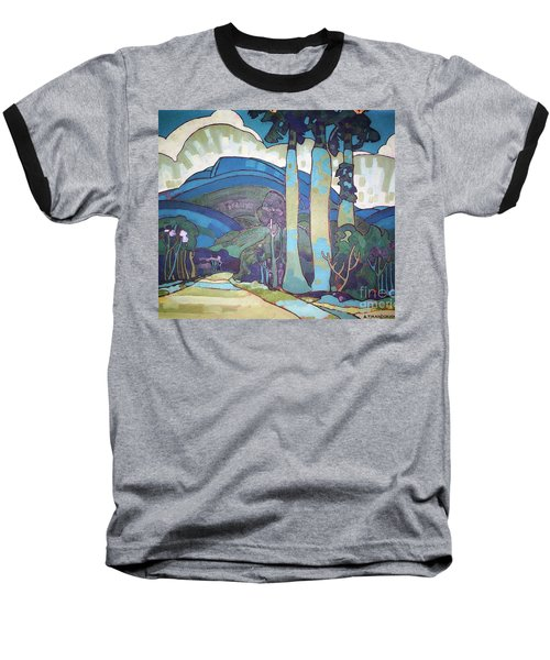 Baseball T-Shirt featuring the painting Hawaiian Landscape by Pg Reproductions