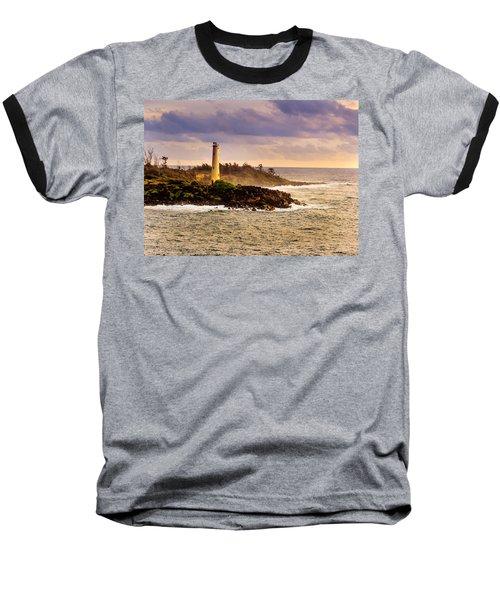 Hawaiian Lighthouse Baseball T-Shirt