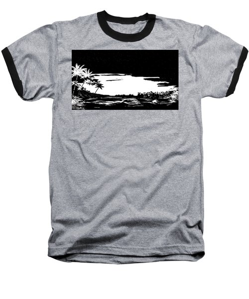 Baseball T-Shirt featuring the digital art Hawaiian Night by Anthony Fishburne
