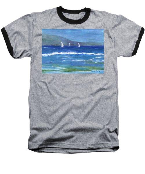 Baseball T-Shirt featuring the painting Hawaiian Sail by Jamie Frier
