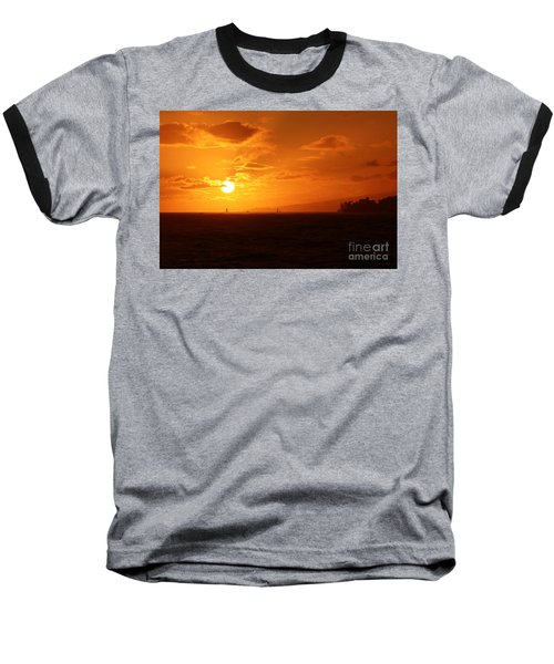Hawaiian Sunset Baseball T-Shirt