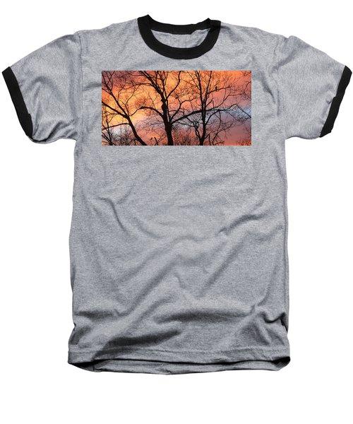 Hawk At Sunrise Baseball T-Shirt
