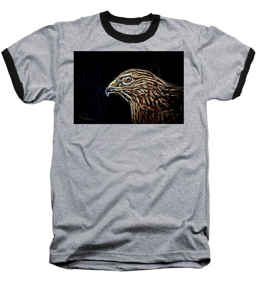 Baseball T-Shirt featuring the photograph Hawk by Ludwig Keck