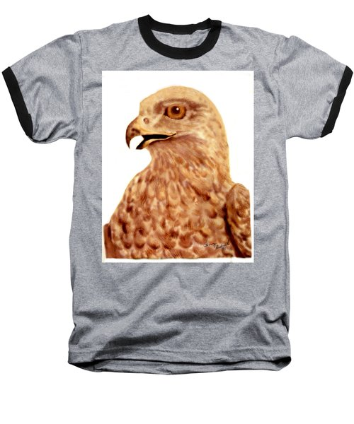 Baseball T-Shirt featuring the digital art Hawk by Terry Frederick