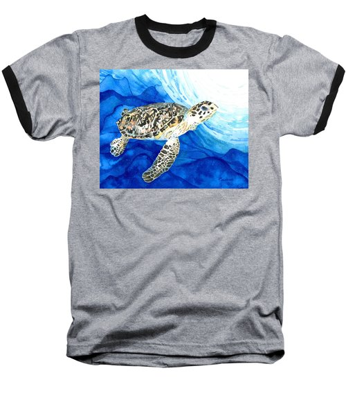 Hawksbill Sea Turtle 2 Baseball T-Shirt