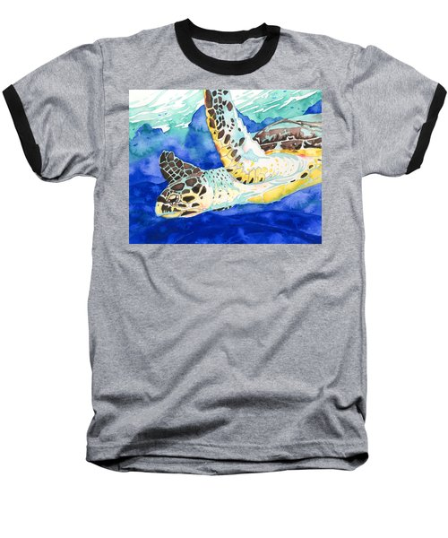 Hawksbill Sea Turtle Baseball T-Shirt