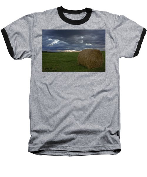 Hay Bail Baseball T-Shirt
