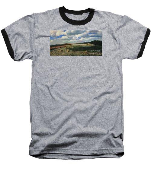 Hayrolls On Swirl Field In Latrobe By Christopher Shellhammer Baseball T-Shirt