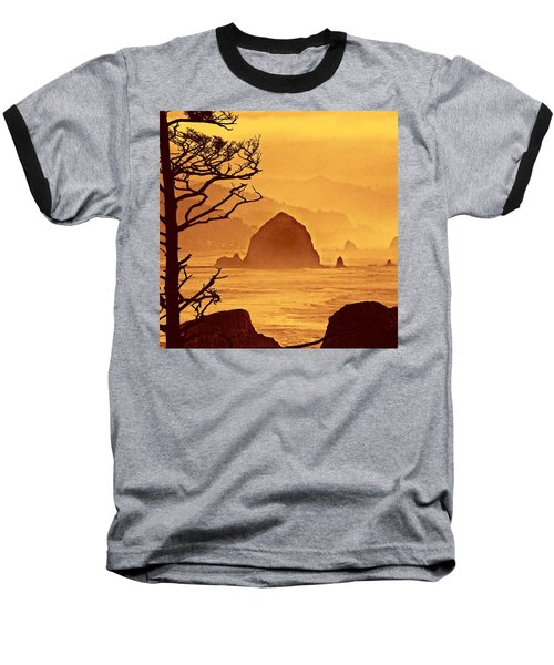 Baseball T-Shirt featuring the photograph Haystack Burnt Sienna by Wendy McKennon