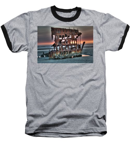 Hdr Peter Iredale Baseball T-Shirt by James Hammond