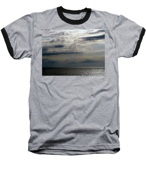 Hdr Storm Over The Water  Baseball T-Shirt