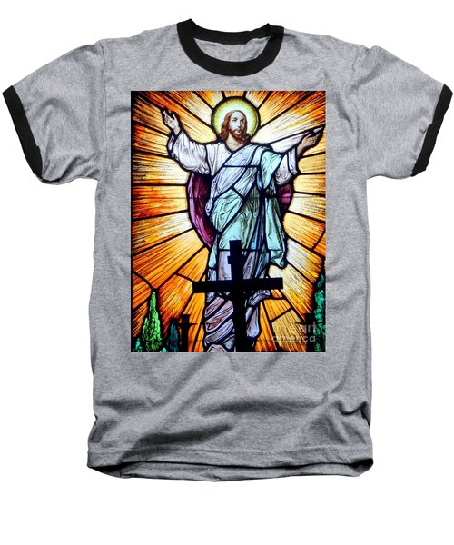 He Is Risen Baseball T-Shirt by Ed Weidman