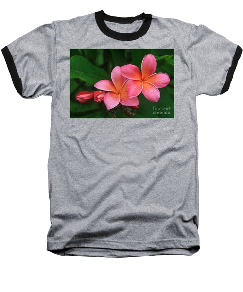 He Pua Laha Ole Hau Oli Hau Oli Oli Pua Melia Hae Maui Hawaii Tropical Plumeria Baseball T-Shirt