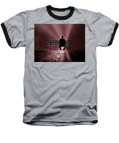 Baseball T-Shirt featuring the photograph He Spoke Light Into The Darkness by Micki Findlay