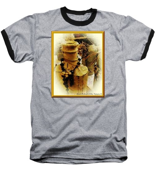 Baseball T-Shirt featuring the mixed media He Turned Water Into Wine by Ray Tapajna