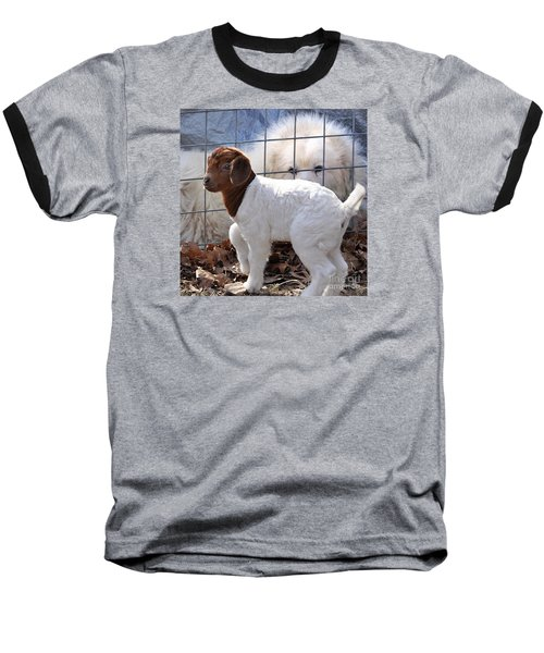 He Watches Over Me Baseball T-Shirt by Nava Thompson