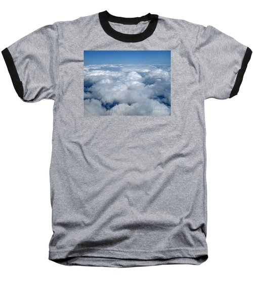 Head In The Clouds Art Prints Baseball T-Shirt by Valerie Garner