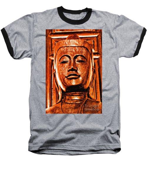 Head Of The Buddha Baseball T-Shirt