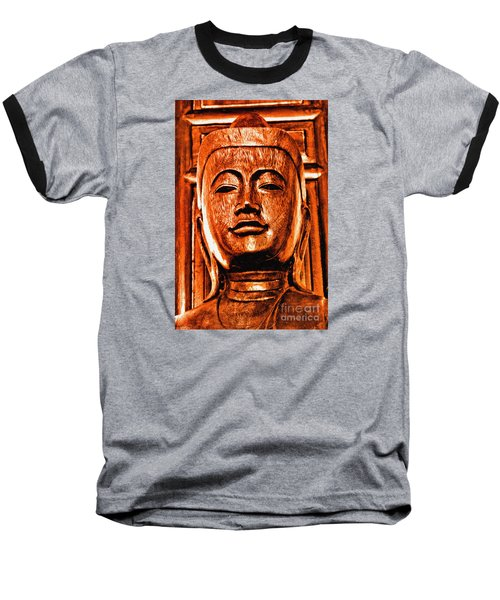 Head Of The Buddha Baseball T-Shirt