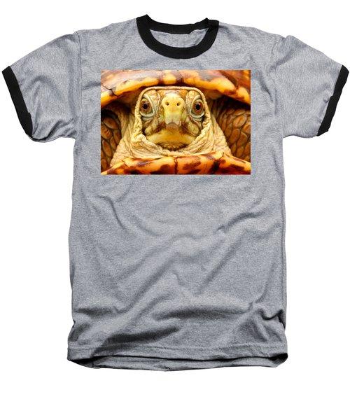 Head Shot Baseball T-Shirt by Jean Noren