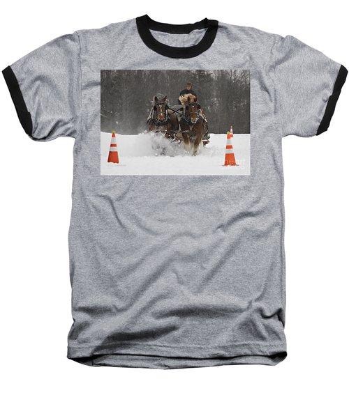 Heading To The Finish Baseball T-Shirt by Carol Lynn Coronios