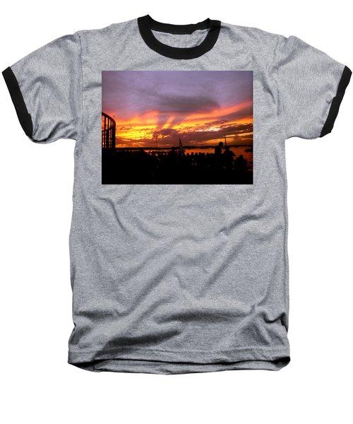 Headlights Of Sunset Baseball T-Shirt