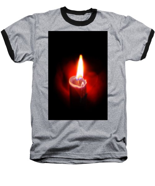 Heart Aflame Baseball T-Shirt