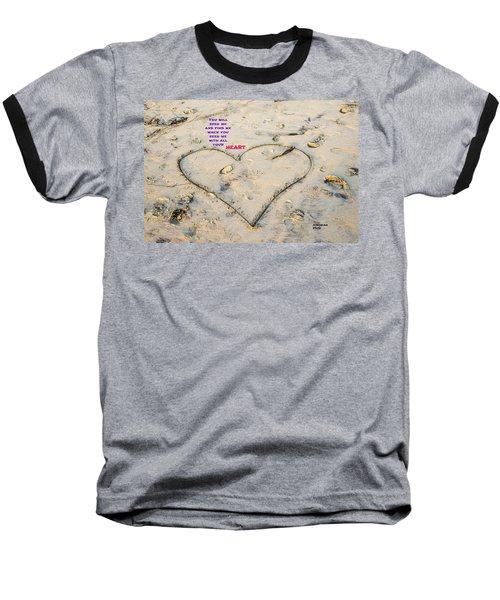 Heart And Words Baseball T-Shirt