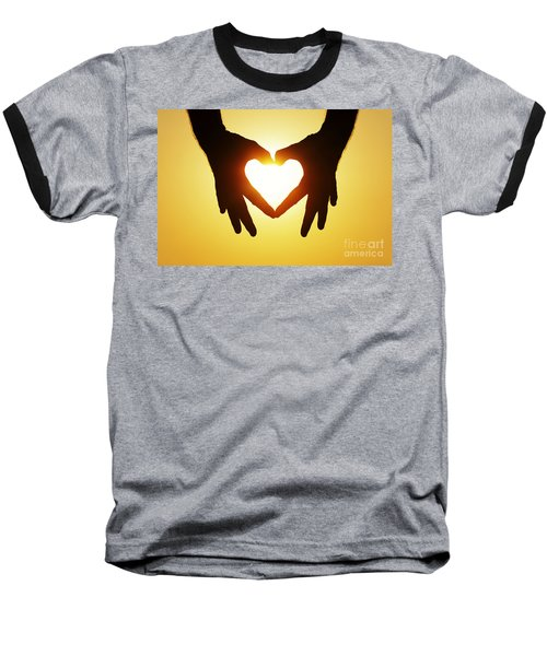 Heart Hands Baseball T-Shirt
