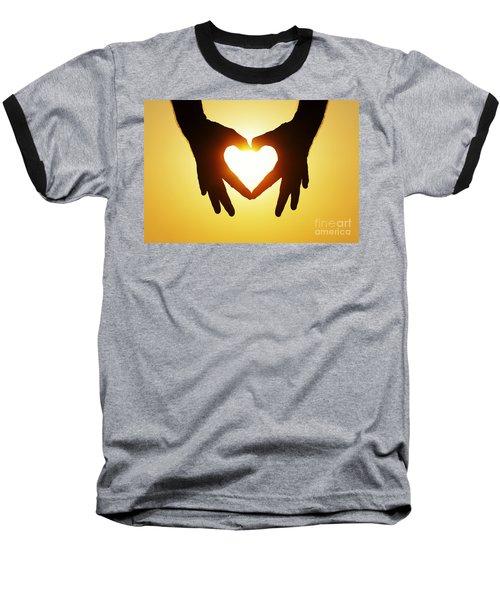 Heart Hands Baseball T-Shirt