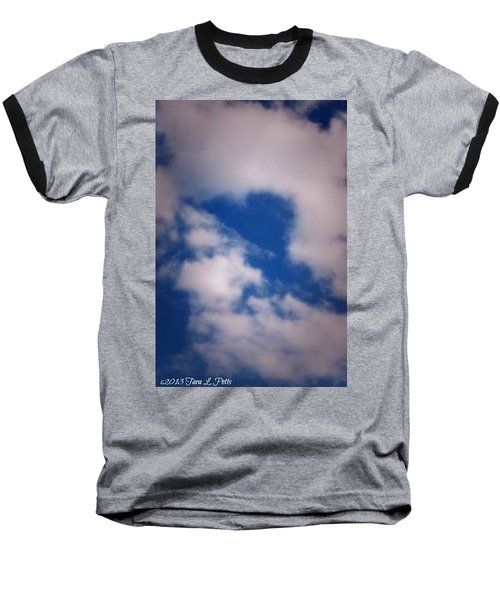 Baseball T-Shirt featuring the photograph Heart In The Clouds by Tara Potts