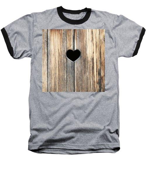 Baseball T-Shirt featuring the photograph Heart In Wood by Brooke T Ryan