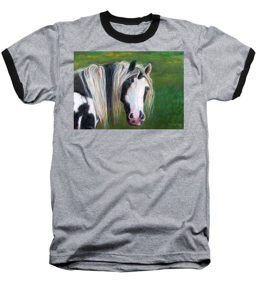 Baseball T-Shirt featuring the painting Heart by Karen Kennedy Chatham