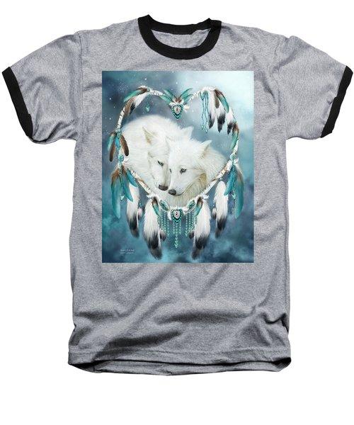 Heart Of A Wolf Baseball T-Shirt