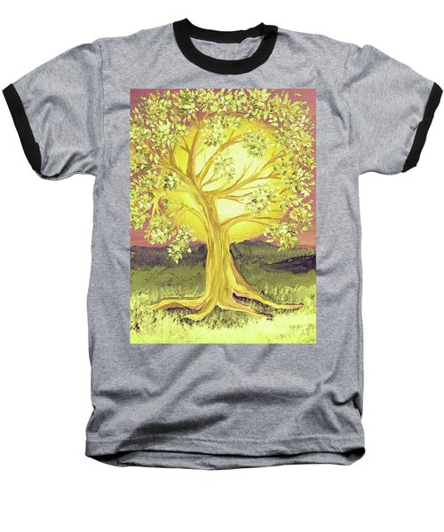 Heart Of Gold Tree By Jrr Baseball T-Shirt