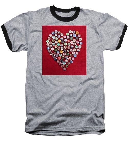 Heart Pop Baseball T-Shirt