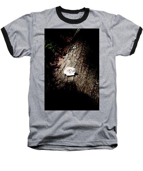 Heart Shape Stop Baseball T-Shirt
