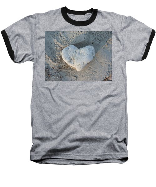 Heart Stone Photography Baseball T-Shirt by Rachel Stribbling