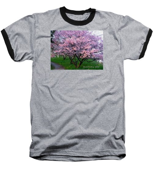 Baseball T-Shirt featuring the painting Heartfelt Cherry Blossoms by Bruce Nutting