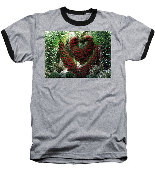Baseball T-Shirt featuring the photograph Hearts And Flowers by Jennifer Wheatley Wolf