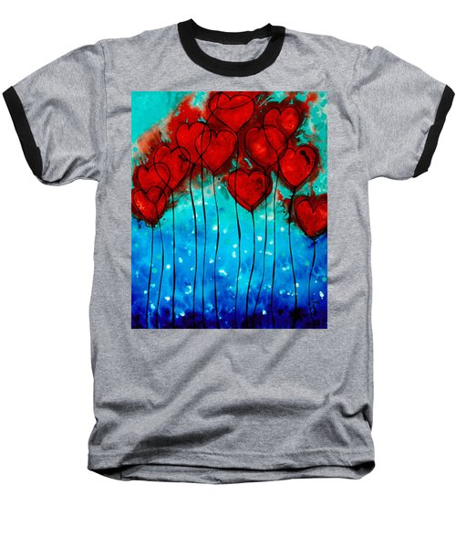 Hearts On Fire - Romantic Art By Sharon Cummings Baseball T-Shirt