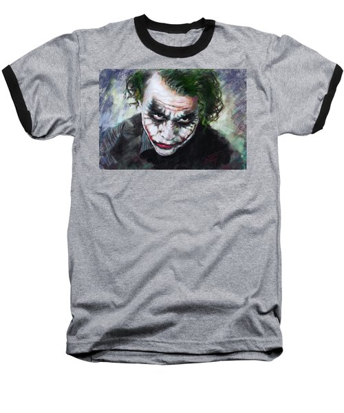 Heath Ledger The Dark Knight Baseball T-Shirt