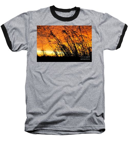 Sunset Heaven And Hell In Beaumont Texas Baseball T-Shirt by Michael Hoard