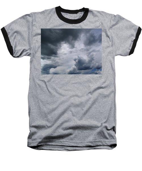 Heaven Looks Angry Baseball T-Shirt