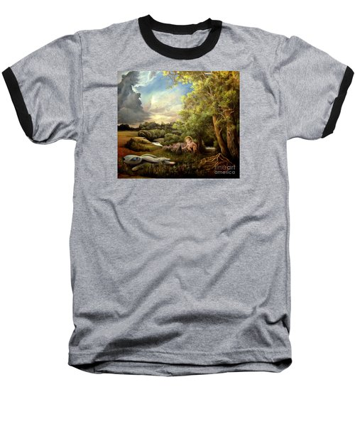 Heaven Baseball T-Shirt by Mikhail Savchenko