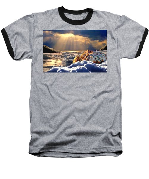 Heavenly Ascension Baseball T-Shirt by Ron Chambers