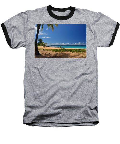 Heavenly Haena Beach Baseball T-Shirt by Marie Hicks