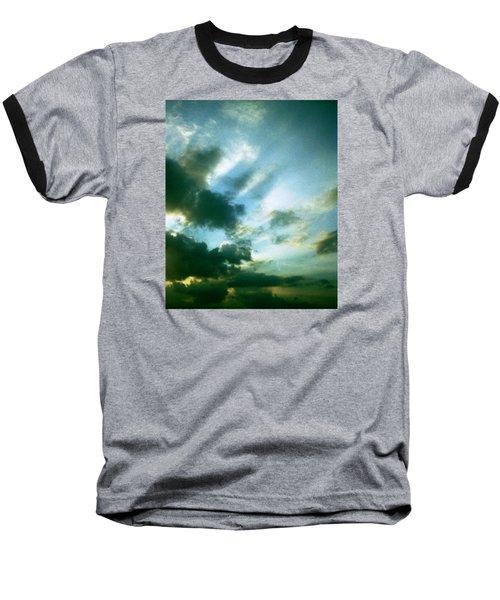 Golden Heavenly Rays Baseball T-Shirt by Belinda Lee