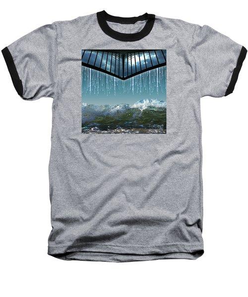 Heavens Crying Baseball T-Shirt by Rosa Cobos