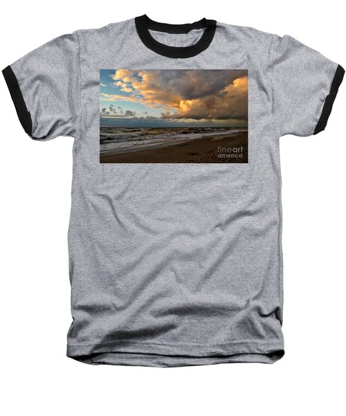 Heavy Clouds Over Baltic Sea Baseball T-Shirt by Maja Sokolowska
